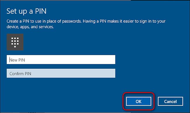 اضافهکردن پین به حساب کاربری خود در ویندوز 10