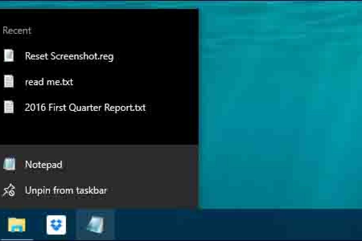 آموزش پاک کردن موارد اخیرا مشاهده شده از Jump List ویندوز