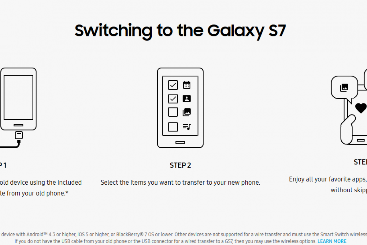انتقال دادهها از گوشیهای قدیمی به گلکسی S7 با سامسونگ Smart Switch