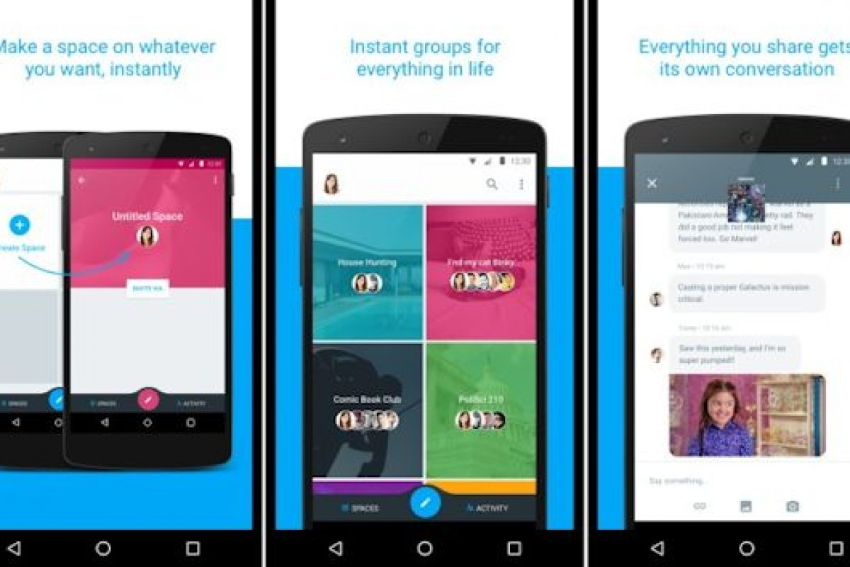 گوگل در حال تست اپلیکیشن پیام رسانی با نام Spaces و با محوریت چتهای گروهی است