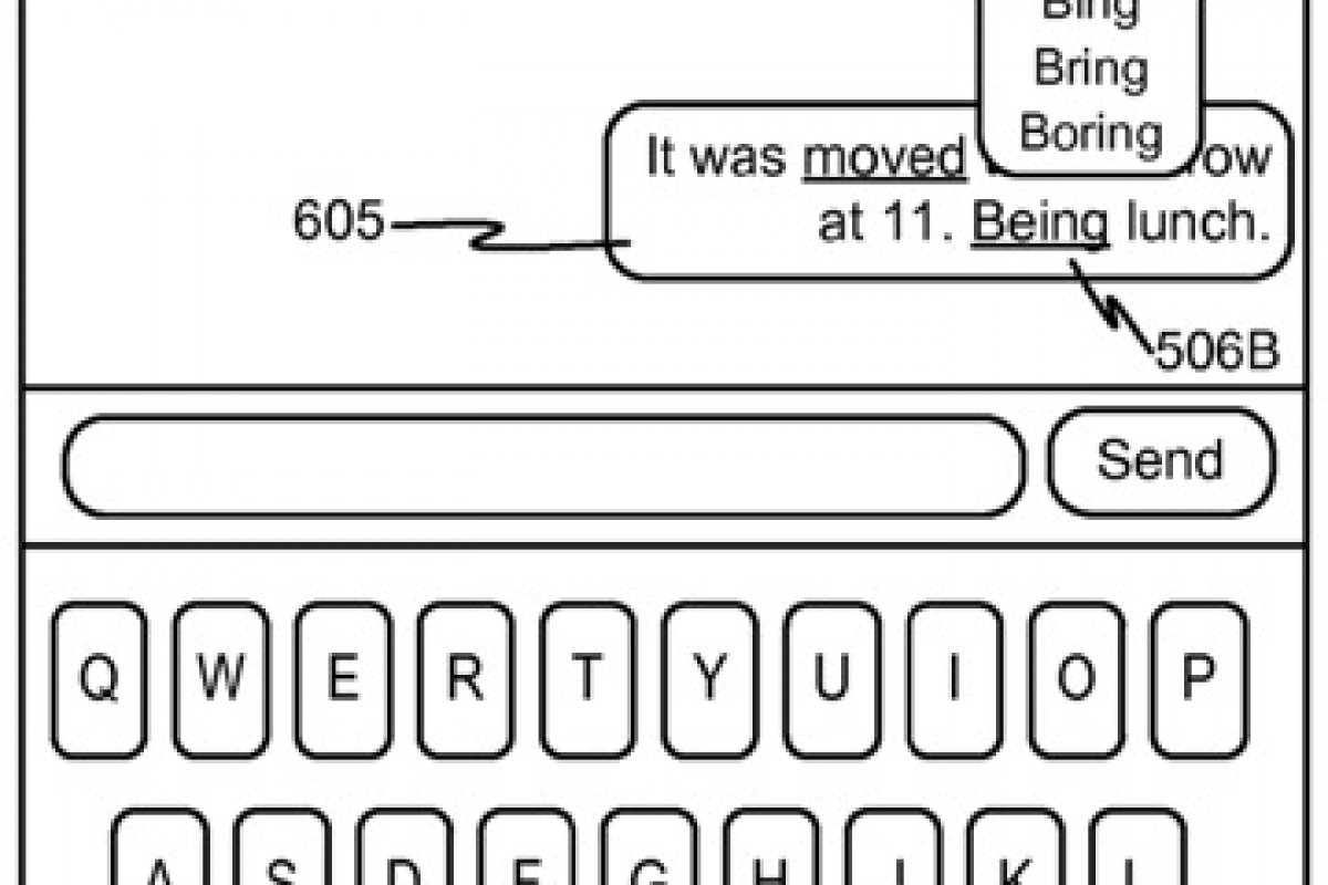 پتنت جدید اپل، کلمات تصحیحشده در پیامها را نشان میدهد
