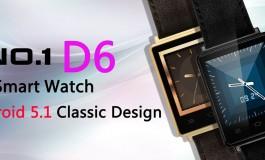 نامبروان D6 یک اسمارت واچ با ظاهر کلاسیک و اندروید ۵.۱