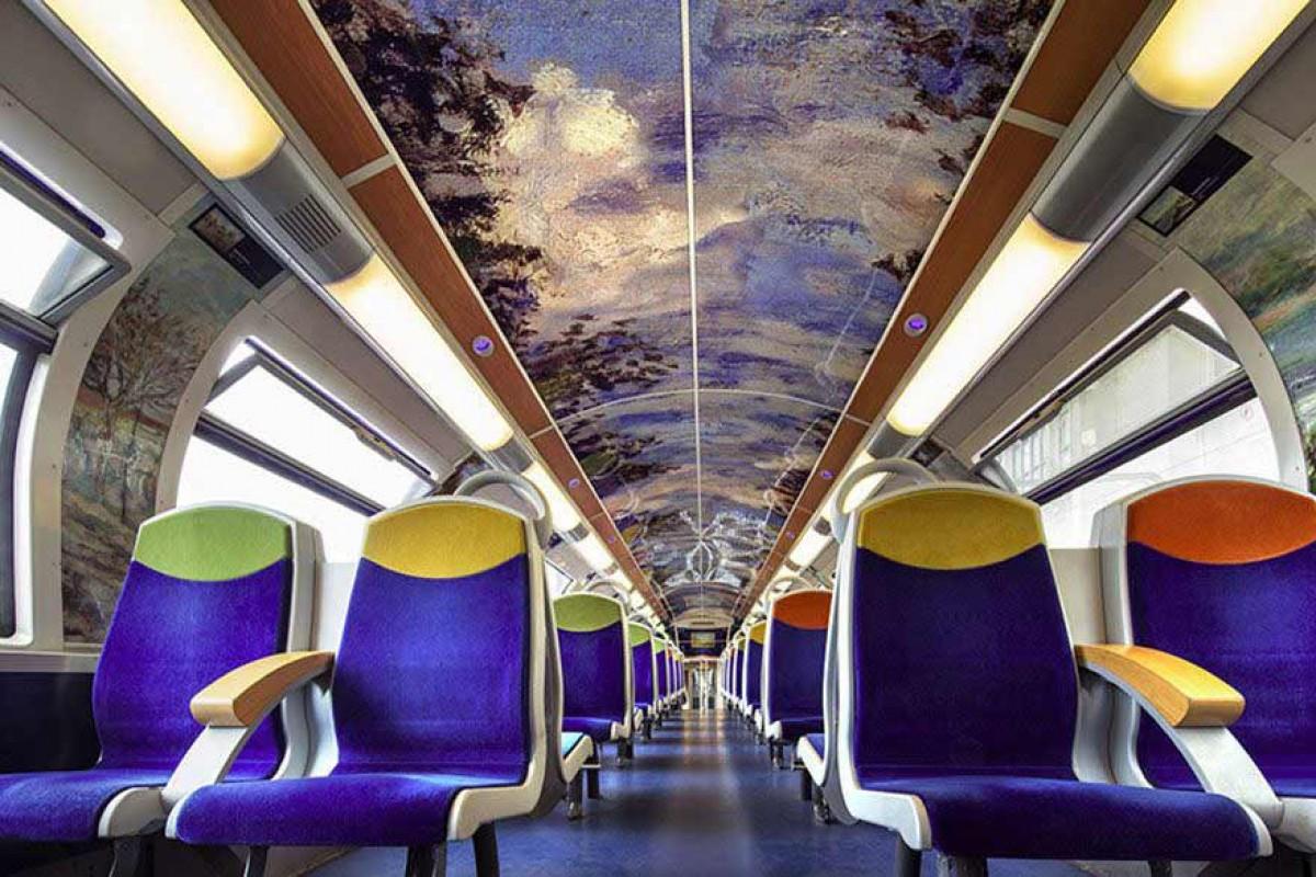 وقتی که یک قطار به گالری هنری تبدیل میشود! (به همراه تصویر)