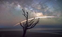 ثبت تصویری زیبا از فرود آمدن راکت فالکون ۹ شرکت SpaceX