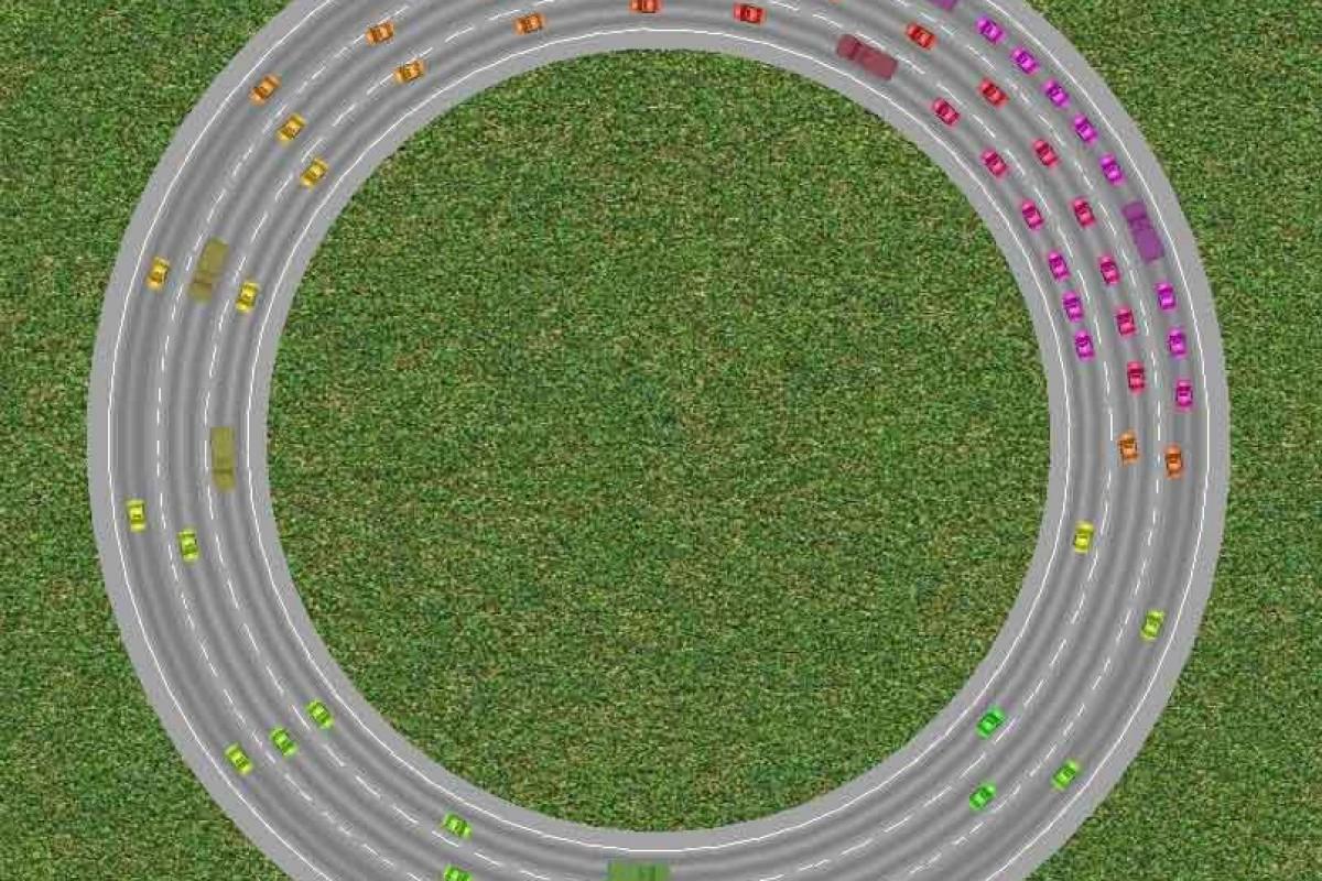 مشاهده نحوه شکلگیری ترافیک با شبیهساز