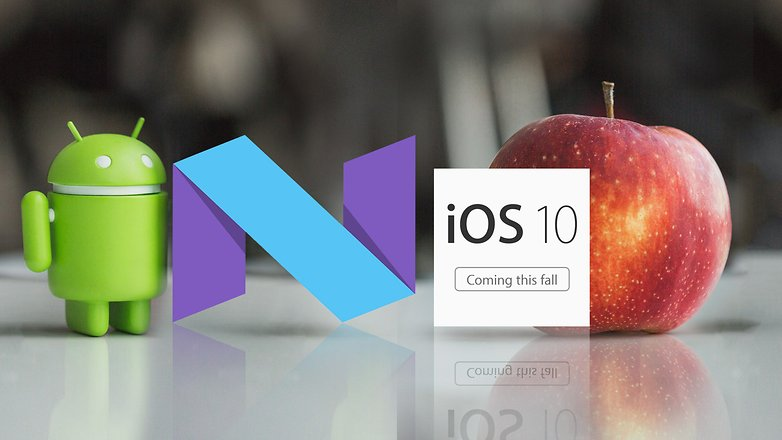 android-N-vs-iOS-10