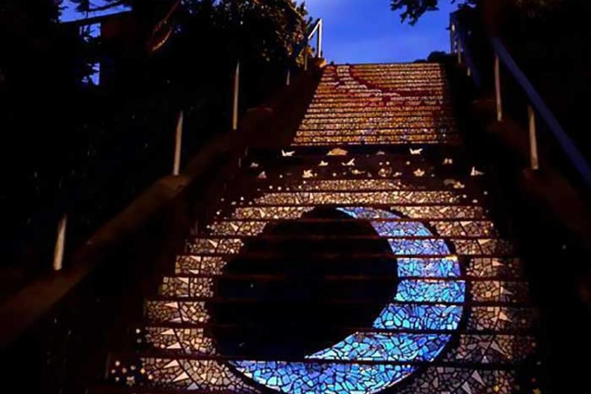 پلههایی درخشان در سانفرانسیسکو + تصاویر