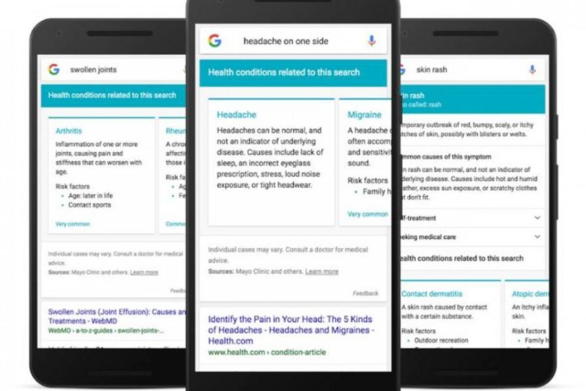 تشخیص علائم بیماری شما به صورت آنلاین توسط گوگل