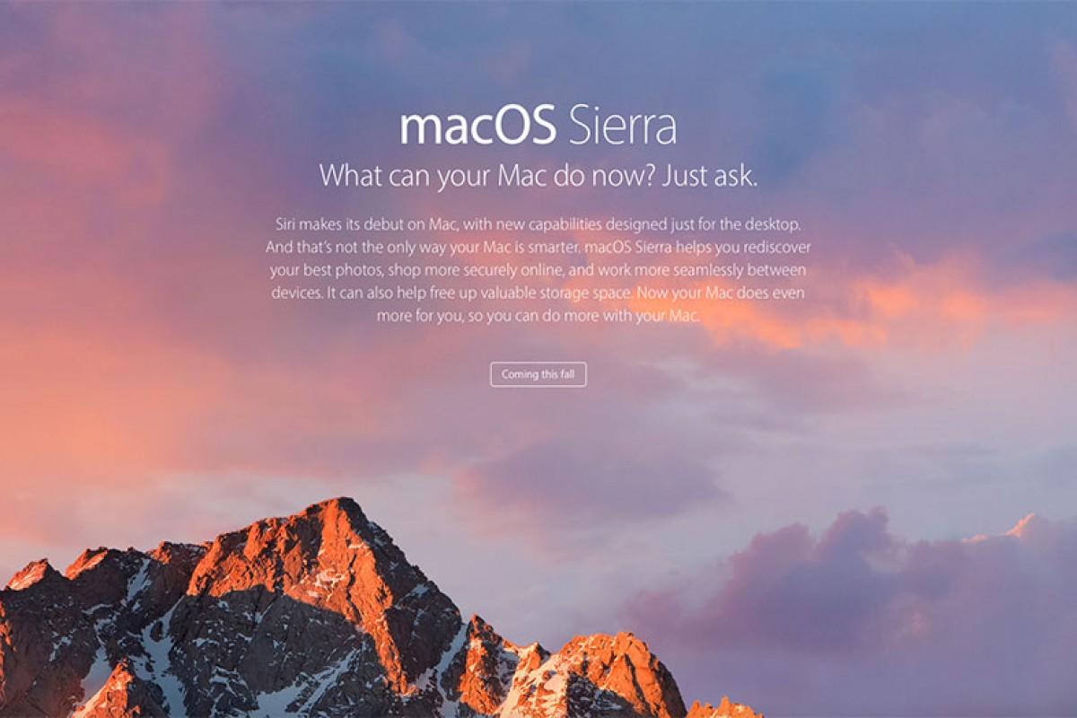هر آنچه که میبایست در رابطه با macOS Sierra بدانید