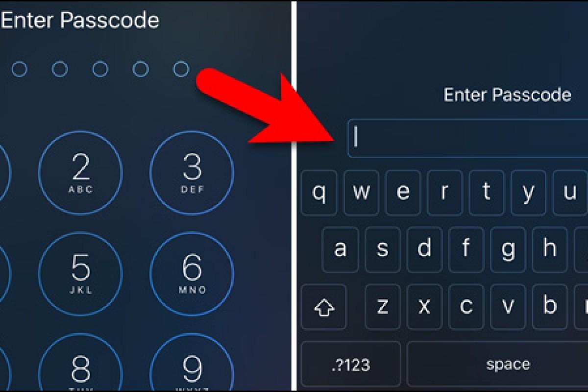 نحوه افزایش امنیت iOS با استفاده از گذرواژه الفبایی/عددی