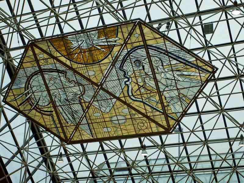 in-keflavk-international-airport-in-iceland-a-stained-glass-mural-decorates-the-buildings-sloped-roof