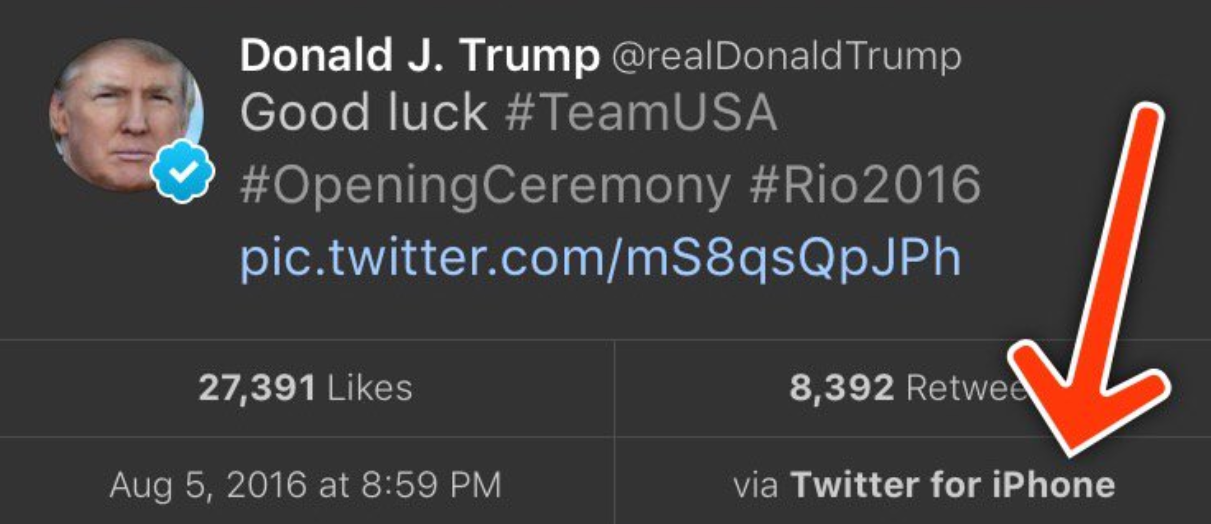 Tweet-exhorting-on-U.S.-Olympic-team-comes-from-an-iPhone