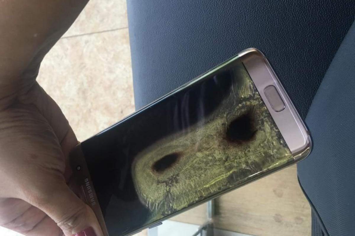 رسوایی برای سامسونگ: یک دستگاه گلکسی S7 Edge در فیلیپین آتش گرفت!