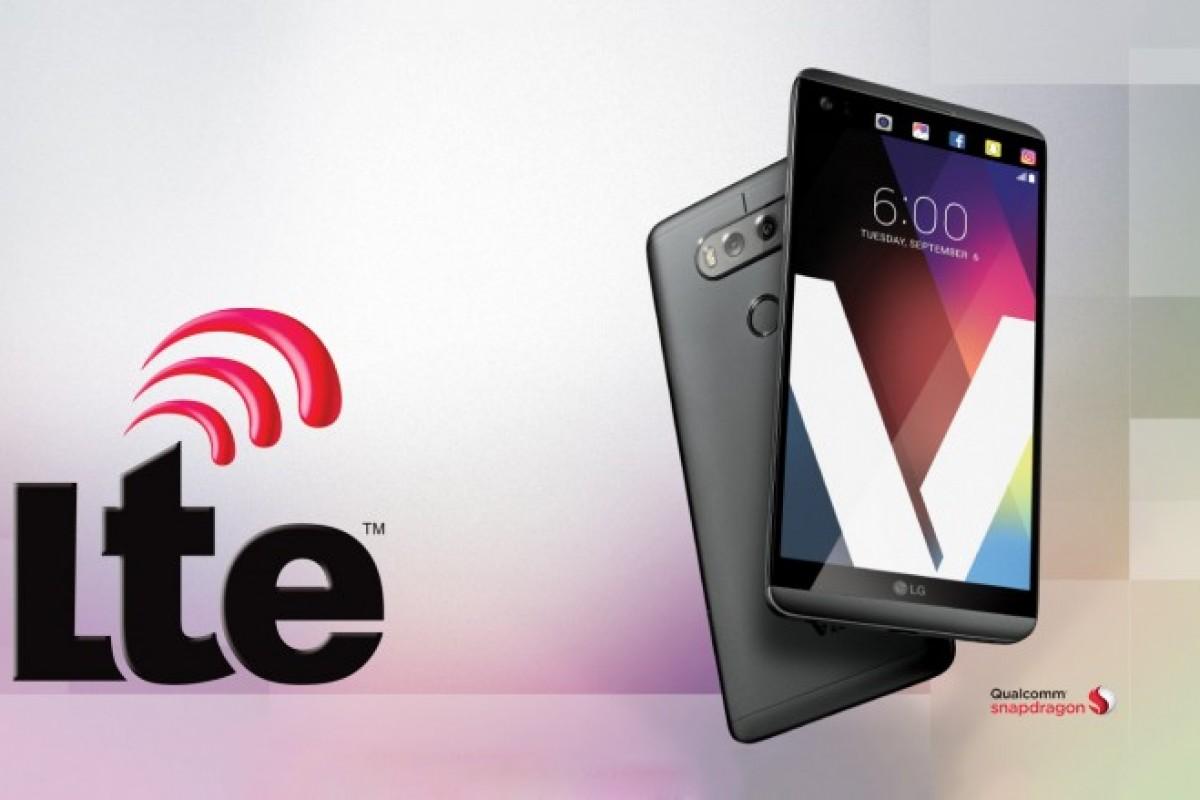 الجی V20 اولین گوشی که از فناوری AWS-3 LTE پشتیبانی میکند