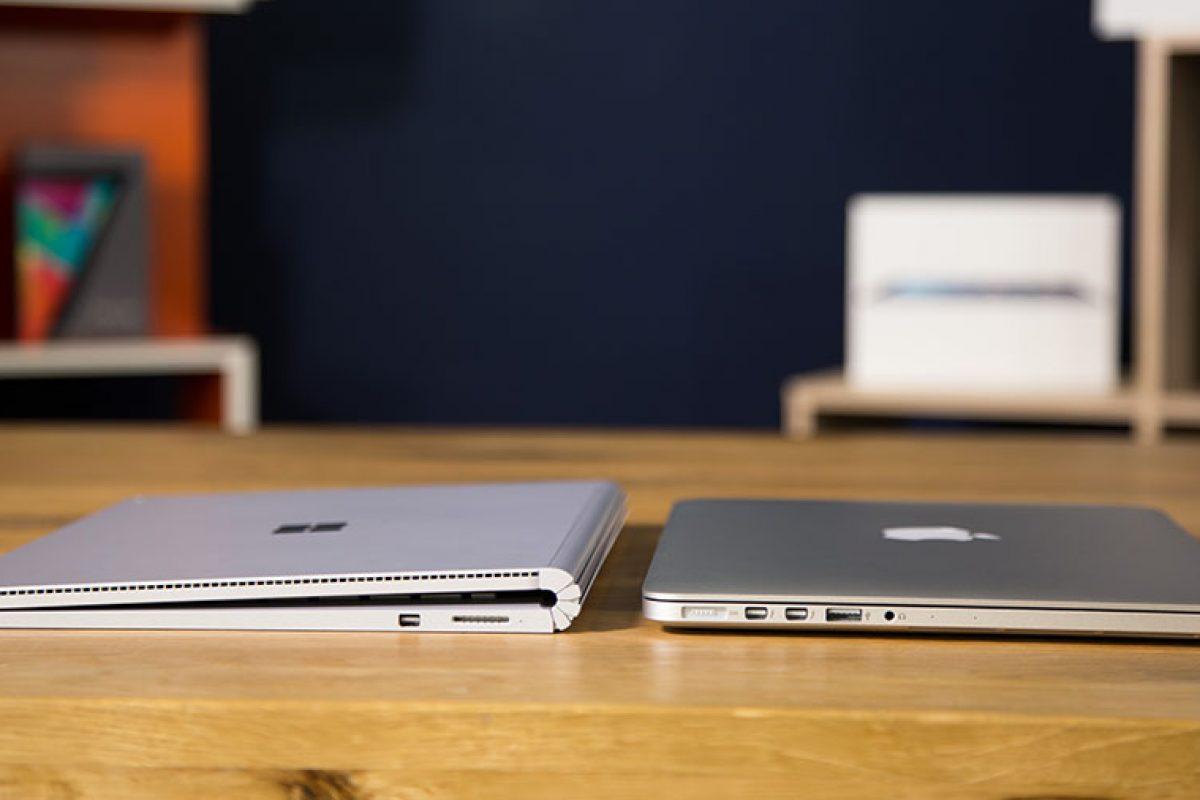 اینفوگرافیک: مقایسه مکبوک پرو و سرفیس بوک مایکروسافت
