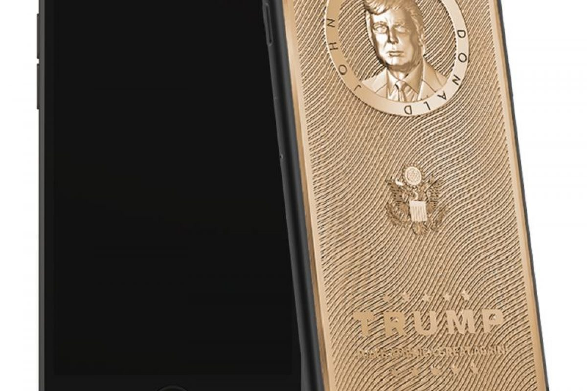 عرضه آیفون طلایی با چهره دونالد ترامپ