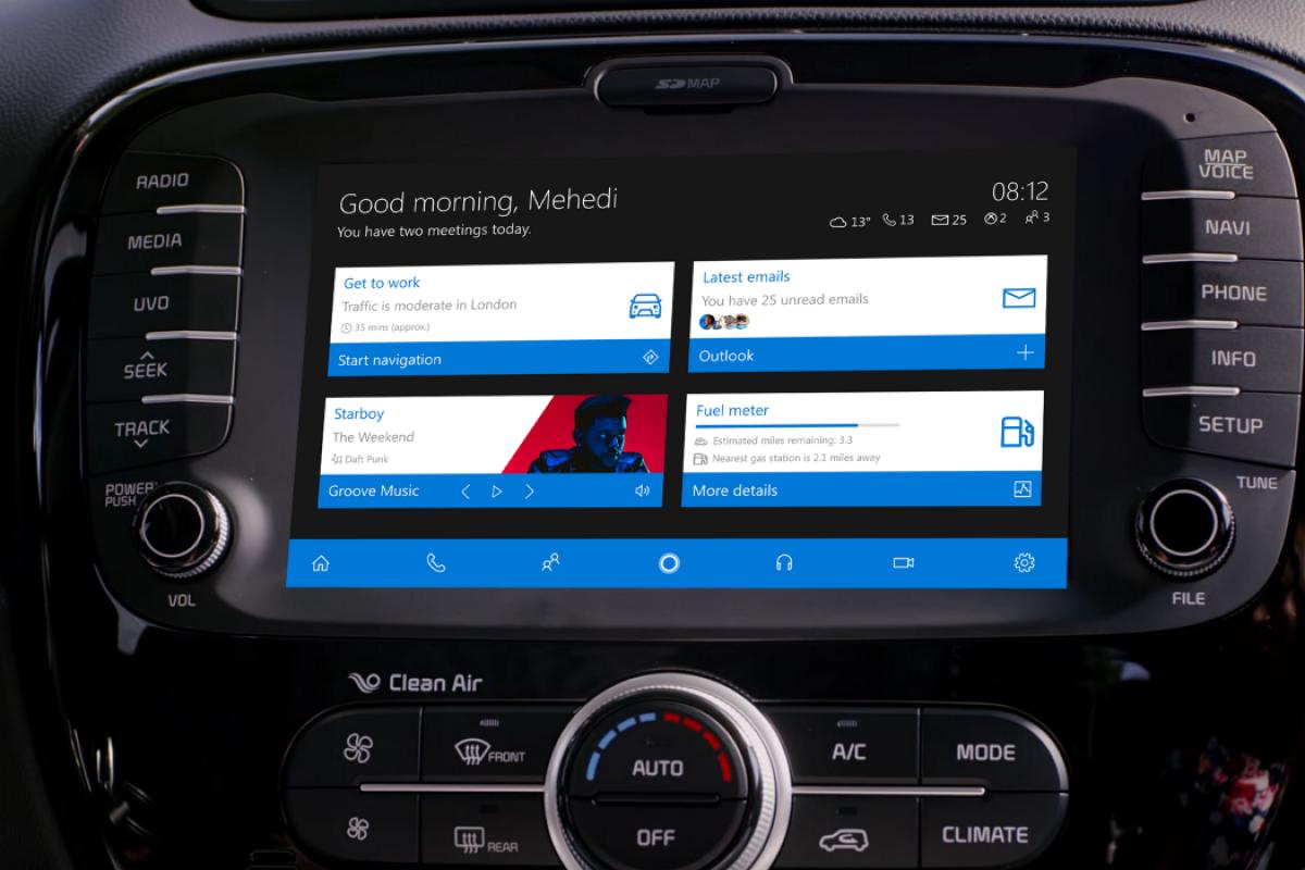 وقتی ویندوز ۱۰ و دستیار صوتی کورتانا وارد اتومبیل شوند!
