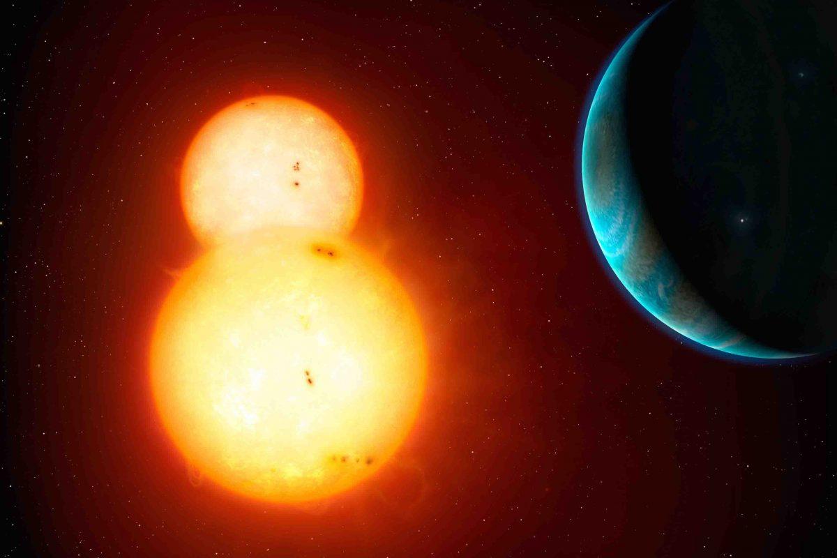 بزرگترین سیاره با گردش به دور دو ستاره کشف شد