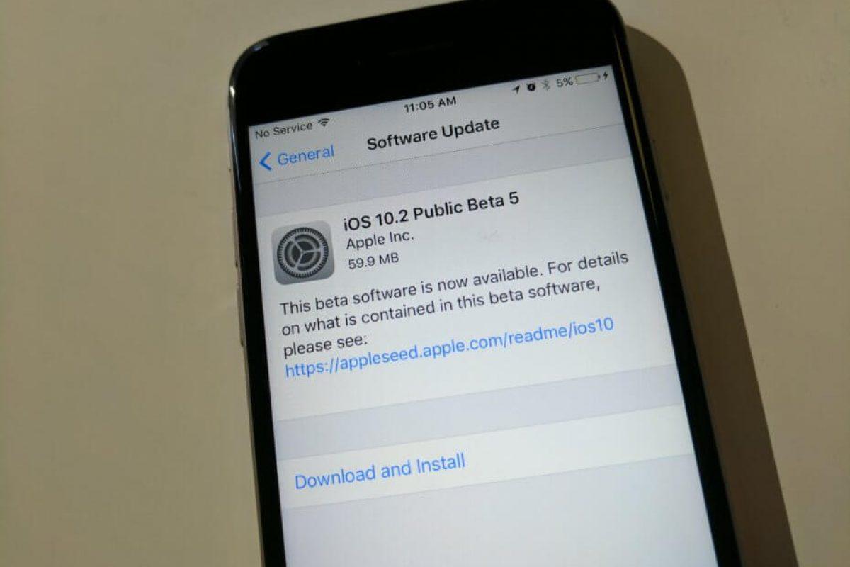 اپل پنجمین نسخه بتای iOS 10.2 را منتشر کرد