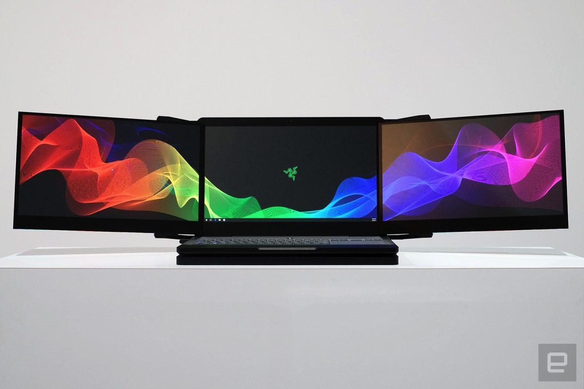 کمپانی Razer از لپتاپی با وضوح تصویر ۱۲K و سه صفحه نمایش رونمایی کرد!