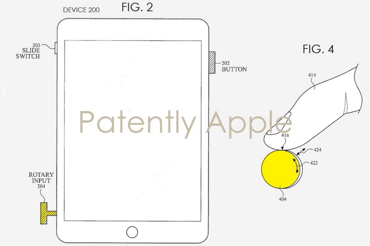 پتنت جدید اپل برای استفاده از Digital Crown در آیفون و آیپد