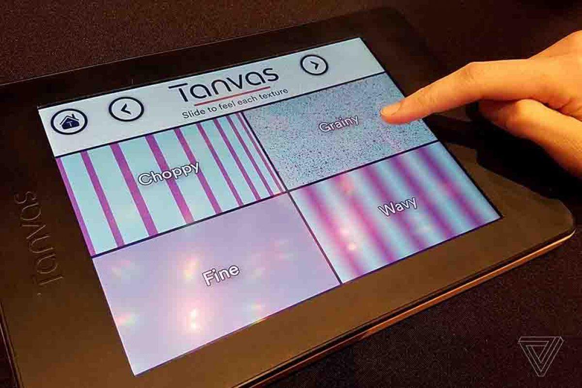 ایده شرکت تانواس آینده صفحات لمسی را نشان میدهد