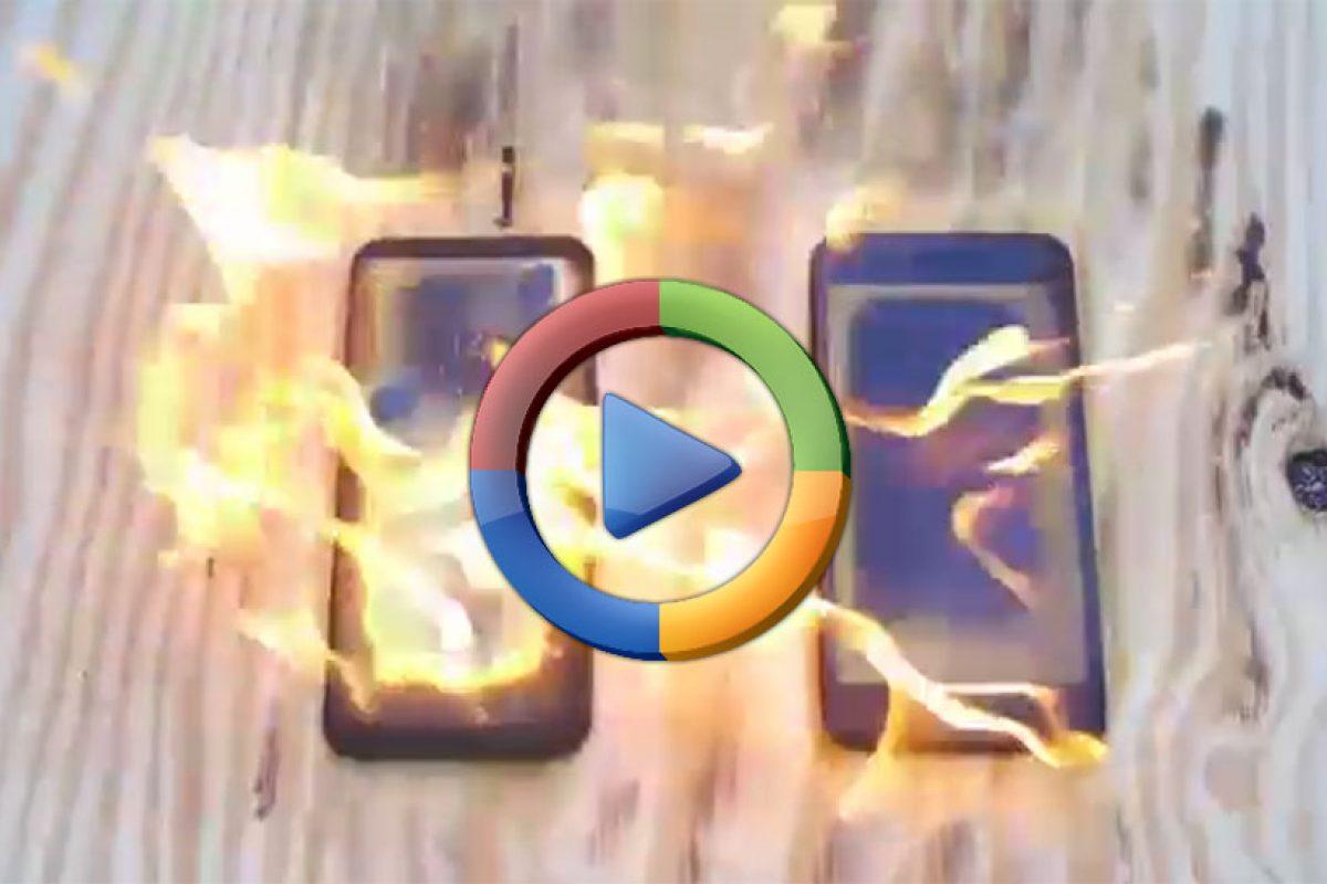 آتش زدن سامسونگ گلکسی S8 پلاس و آیفون ۷ پلاس (ویدئوی اختصاصی)