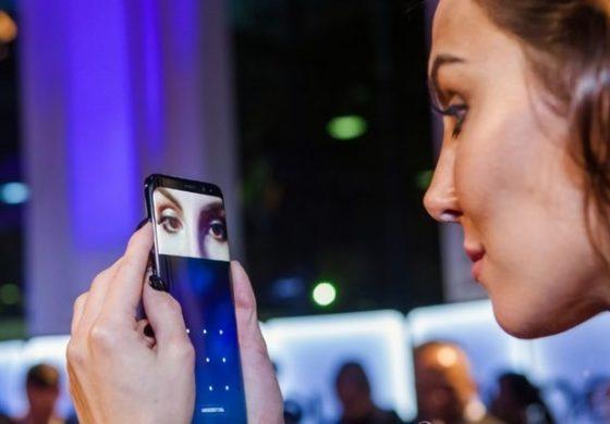 از اسکنر عنبیه چشم گلکسی S8 میتوان برای پرداختهای موبایلی استفاده کرد