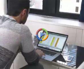 سابرو یک میز هوشمند با قابلیتهای شگفتانگیز (ویدئو اختصاصی)
