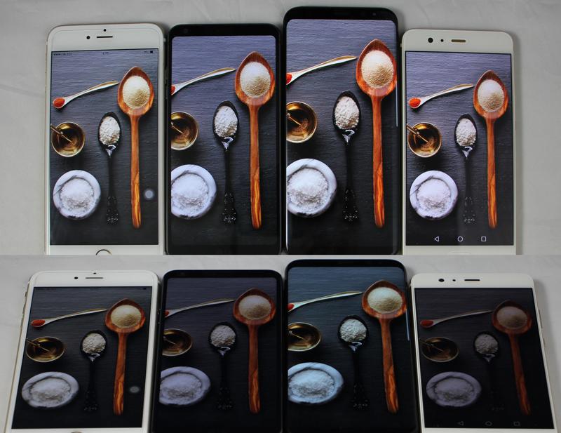 مقایسه نمایشگر گوشی