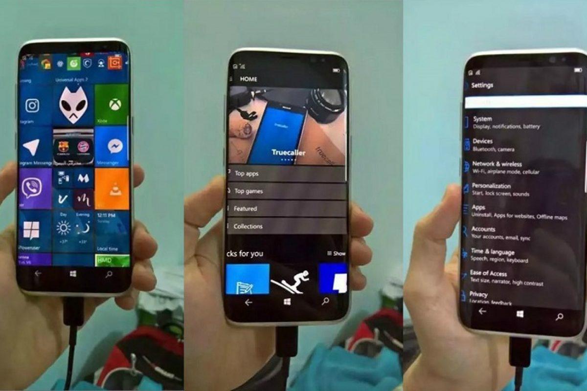 انتشار تصاویری از گلکسی S8 با سیستمعامل ویندوز ۱۰ موبایل