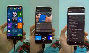 انتشار تصاویری از گلکسی S8 با سیستمعامل ویندوز 10 موبایل
