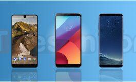 مقایسه مشخصات گوشی اسنشیال با الجی G6 و گلکسی S8