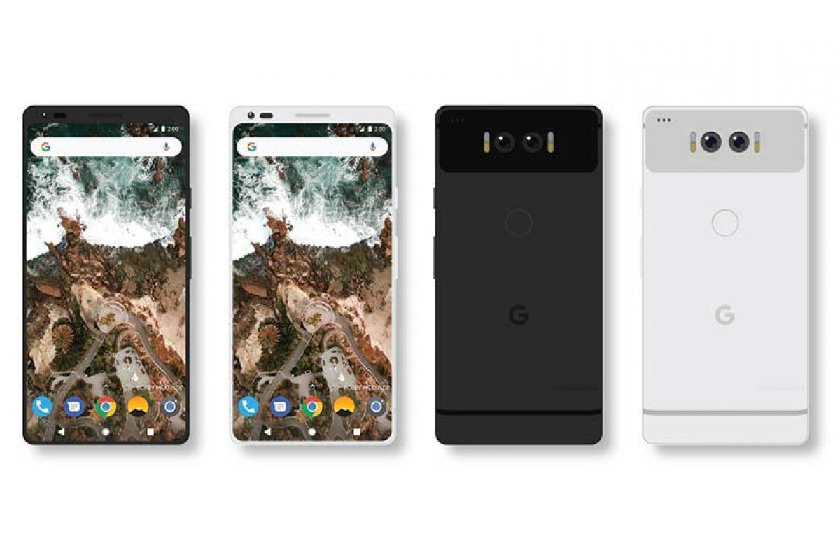 کانسپت جدید گوگل پیکسل ۲ شباهت زیادی به الجی جی۶ دارد