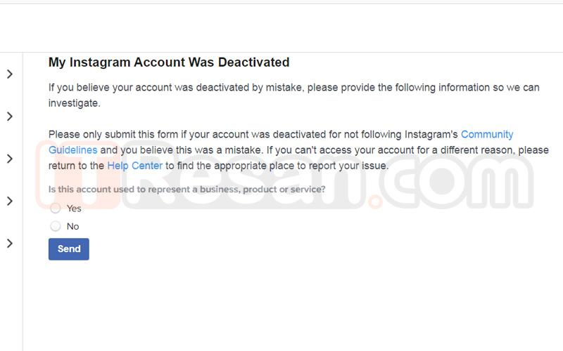 Return Instagram account