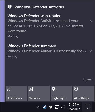 چگونه از آنتیویروس داخلی Windows Defender در ویندوز 10 استفاده کنیم؟