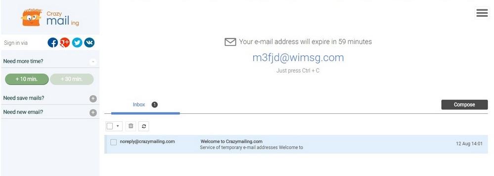 ایمیل موقت