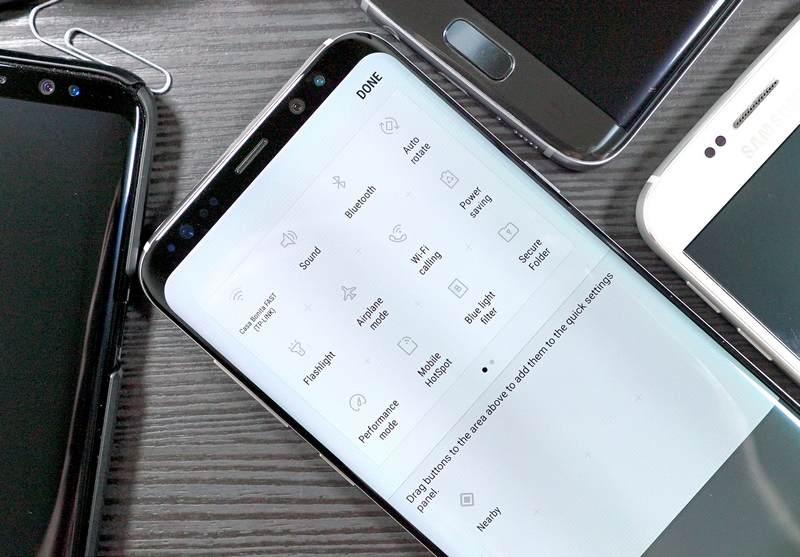 دسترسی به نوار نوتیفیکیشن گلکسی S8 و نوت 8 از هر نقطه نمایشگر امکانپذیر شد