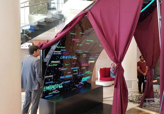 گلدیران از نمایشگرهای تجاری و تبلیغاتی الجی رونمایی کرد