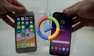 تست مقاومت گلکسی S8 سامسونگ و آیفون 8 اپل در آب شور (ویدئو اختصاصی)