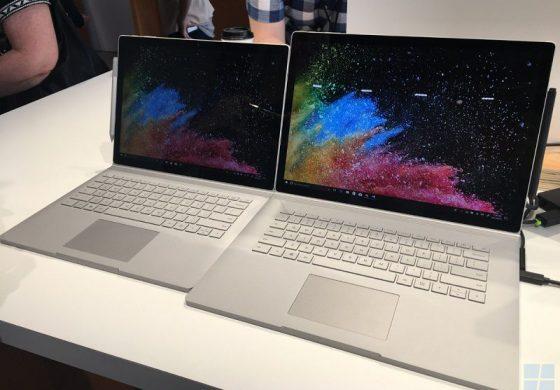 مایکروسافت از سرفیس بوک 2 مجهز به پردازندههای نسل هشتم اینتل پرده برداشت