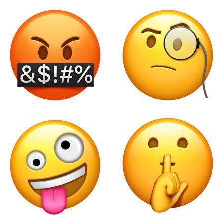 apple-emoji-update-2017-faces-450x450 اموجیهای جدیدی به همراه iOS 11.1 به iMessage افزوده خواهد شد