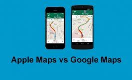 نقشه گوگل از نظر جزییات و نواحی تحت پوشش از نقشه اپل جلوتر است