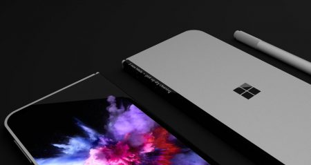 2-6-450x239 انتشار رندرهایی از گوشی هوشمند انعطافپذیر سرفیسفون مایکروسافت
