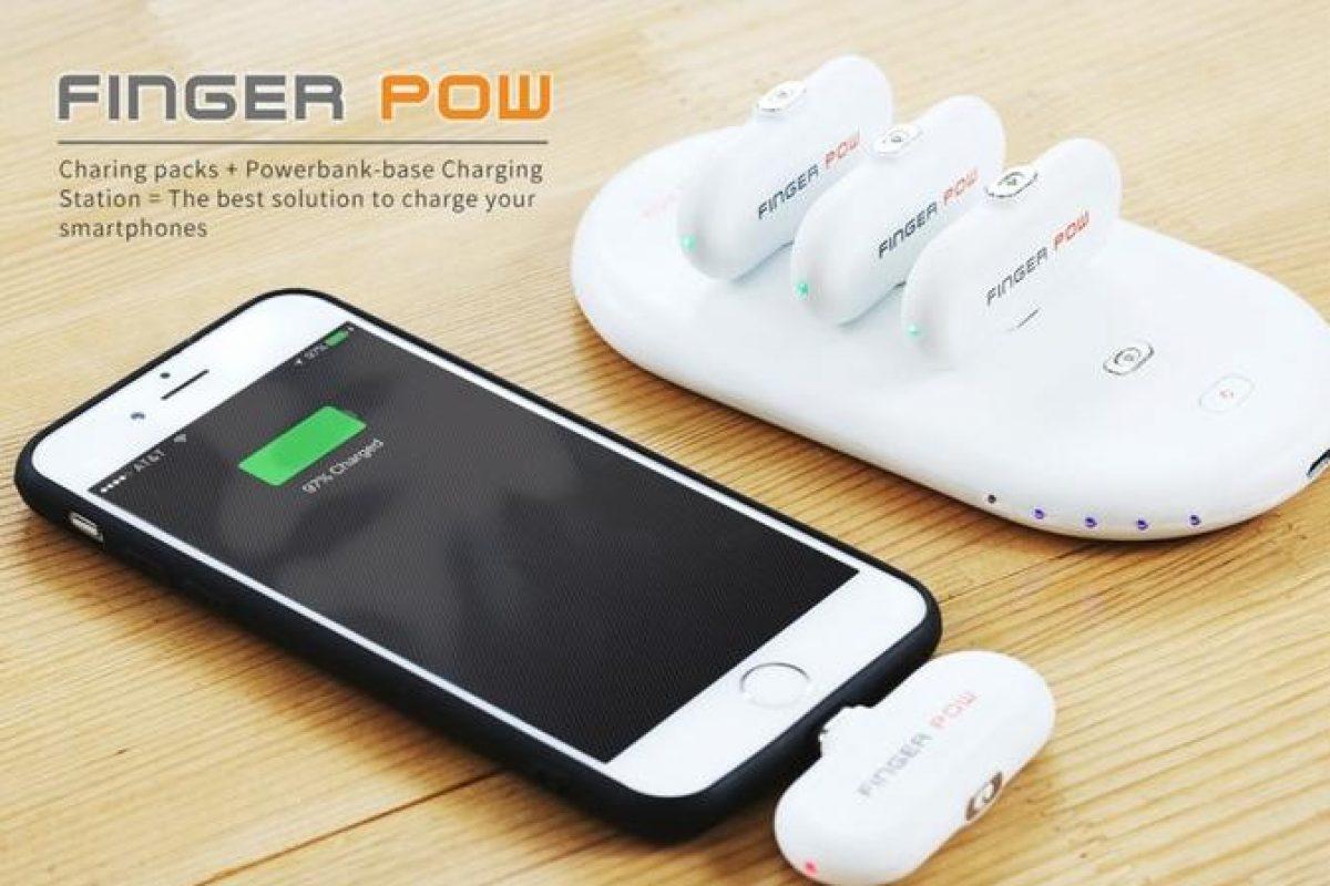 دستگاه Finger Pow از بالشتکهای مغناطیسی کوچک برای شارژ گوشی شما استفاده میکند