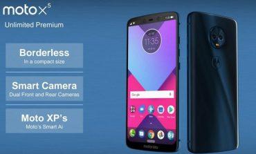 تصاویر گوشی موتو X5 نمایانگر 4 دوربین، طراحی بدون حاشیه با نمایشگر مشابه آیفون X است