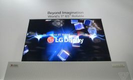 تلویزیون غول پیکر 65 اینچی OLED الجی مانند روزنامه لول میشود!