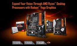 سازگاری مادربردهای AM4 گیگابایت با پردازندههای دسکتاپ AMD Ryzen Radeon Vega