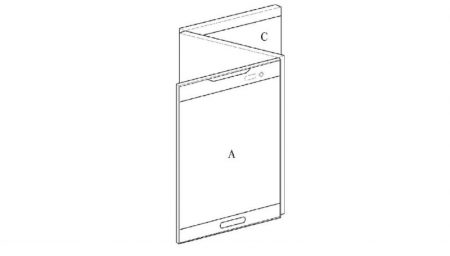 LG-Foldable-Display-Device-WIPO-6-800x455-450x256 پتنت جدید الجی یک اسمارتفون منعطف با نمایشگر سه صفحهای را نشان میدهد