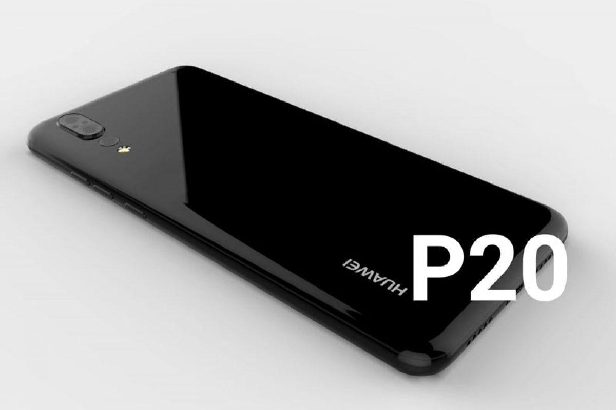 رندر سه بعدی هواوی P20 منتشر شد